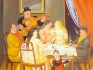 The Dinner 1994 | Fernando Botero | oil painting