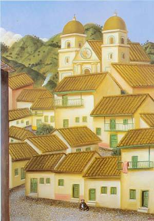 The Town 1995 | Fernando Botero | oil painting