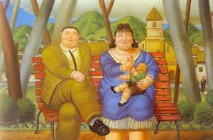 In The Park 1996 | Fernando Botero | oil painting