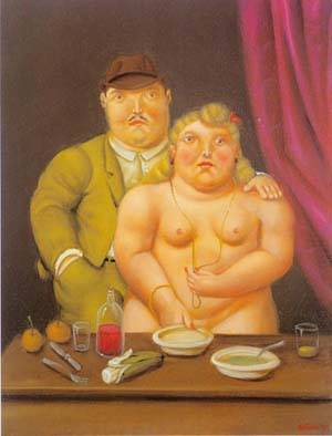 Man And Woman 1996 | Fernando Botero | oil painting