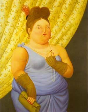 Society Lady 1997 | Fernando Botero | oil painting