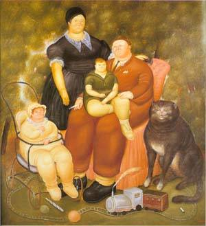 Family Scene 1969 | Fernando Botero | oil painting