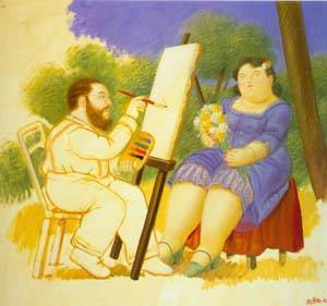 The Painter And His Model 1992 | Fernando Botero | oil painting