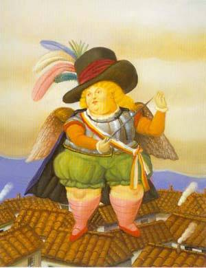 Archangel With Black Hat 1995 | Fernando Botero | oil painting