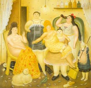The House Of Maria Duque 1970 | Fernando Botero | oil painting