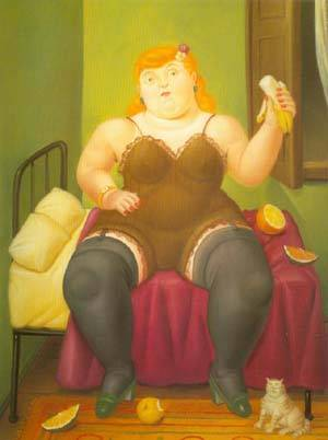 Seated Woman 1994 | Fernando Botero | oil painting