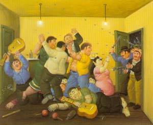 Massacre On The Best Corner 1997 | Fernando Botero | oil painting