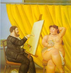 Painter And His Model 1995 | Fernando Botero | oil painting