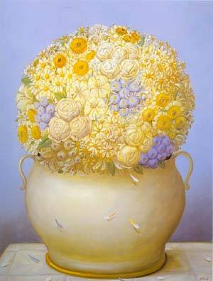 Flowers 1995 | Fernando Botero | oil painting