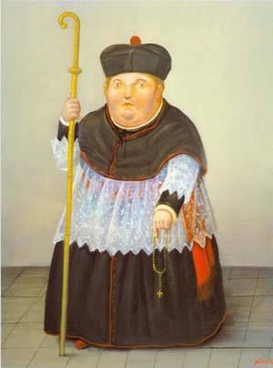 Monsignor 1996 | Fernando Botero | oil painting