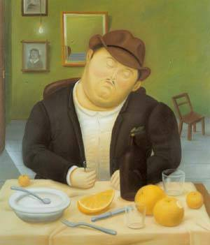 The Siesta 1986 | Fernando Botero | oil painting