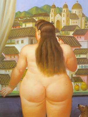Woman At The Window 1995 | Fernando Botero | oil painting