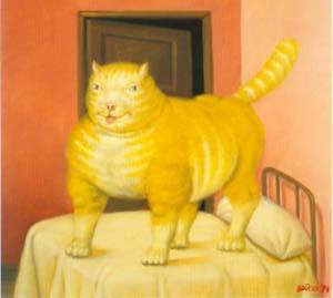 The Cat 1994 | Fernando Botero | oil painting
