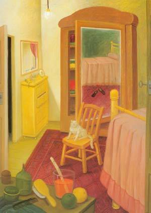 The Bedroom 1993 | Fernando Botero | oil painting