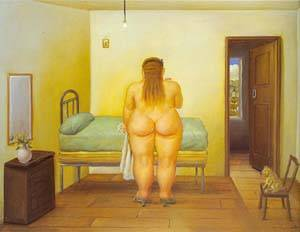 The Bedroom 1996 | Fernando Botero | oil painting