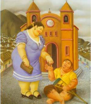 The Charity 1996 | Fernando Botero | oil painting