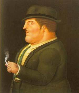 Man Smoking 1995 | Fernando Botero | oil painting