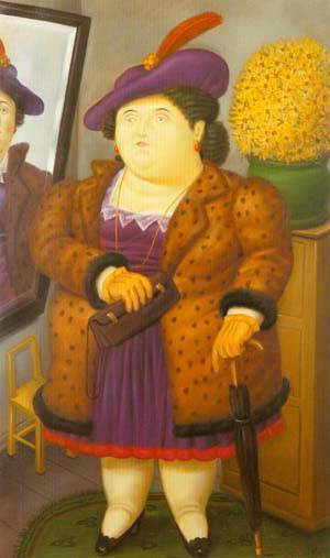 Woman With A Fur Coat 1990 | Fernando Botero | oil painting