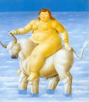 The Rape Of Europa 1998 | Fernando Botero | oil painting