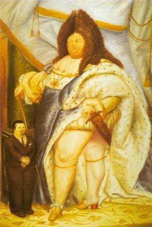Self-Portrait With Louis Xiv 1973 | Fernando Botero | oil painting