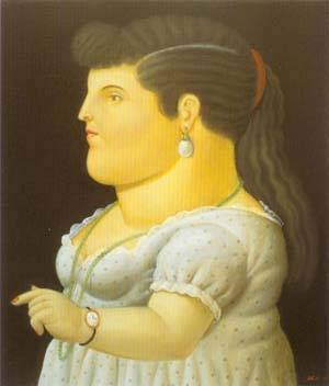 Woman In Profile 1996 | Fernando Botero | oil painting