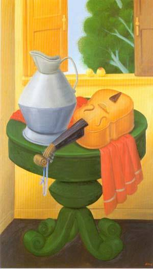 Still Life With Violin 1999 | Fernando Botero | oil painting