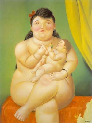 Mother And Child 1995 | Fernando Botero | oil painting