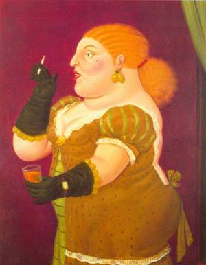 Woman In Profile 1992 | Fernando Botero | oil painting