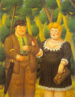 A Couple 1995 | Fernando Botero | oil painting