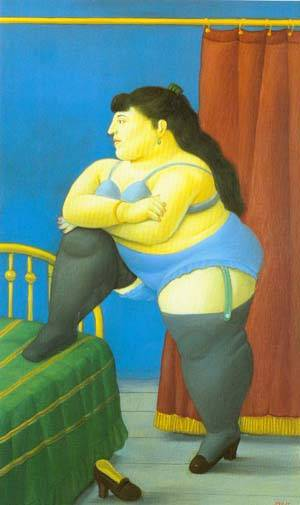 The Bedroom 1999 | Fernando Botero | oil painting