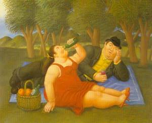 Picnic 1997 | Fernando Botero | oil painting