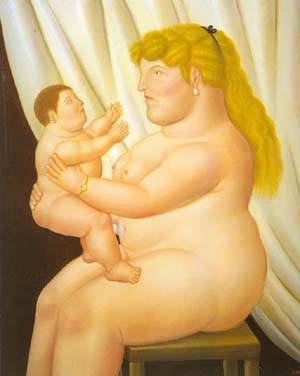 Mother With Child 1995 | Fernando Botero | oil painting