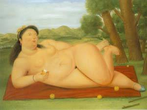 Colombiana 1986 | Fernando Botero | oil painting
