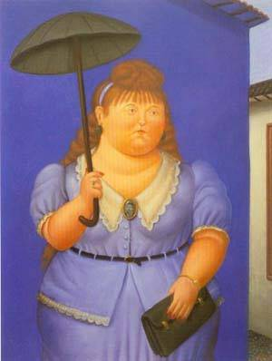 Woman With Umbrella 1995 | Fernando Botero | oil painting