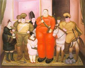 Offcial Portrait Of The Military Junta 1971 | Fernando Botero | oil painting