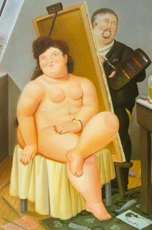 The Model 1989 | Fernando Botero | oil painting