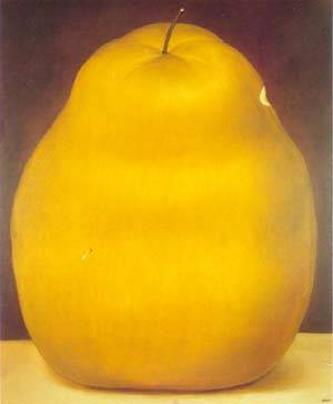 Pear 1976 | Fernando Botero | oil painting