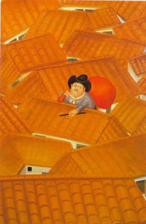 The Burglar 1980 | Fernando Botero | oil painting