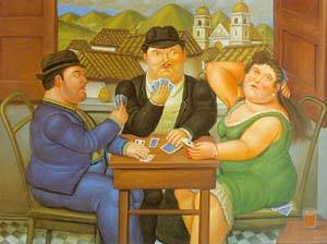 The Card Player 1996 | Fernando Botero | oil painting