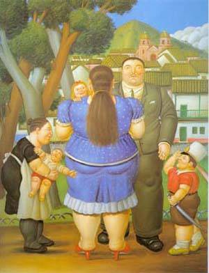 A Family 1996 | Fernando Botero | oil painting