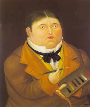 Monsieur Ingres 1995 | Fernando Botero | oil painting