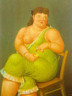 Amalia 1995 | Fernando Botero | oil painting