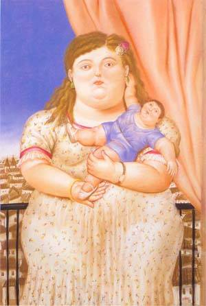 Mother And Son 1993 | Fernando Botero | oil painting