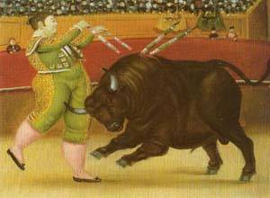 Banderillas 1987 | Fernando Botero | oil painting