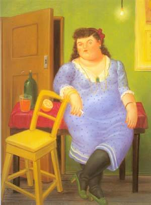 Interior 1994 | Fernando Botero | oil painting