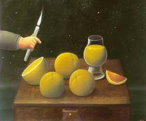 The Night 1998 | Fernando Botero | oil painting