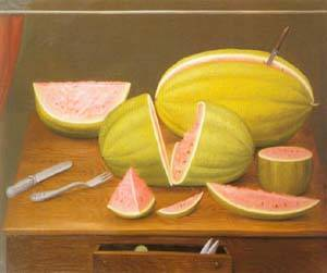 Watermelon 1989 | Fernando Botero | oil painting