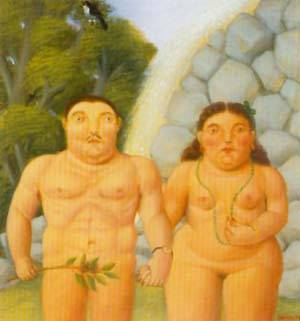 The Couple 1994 | Fernando Botero | oil painting