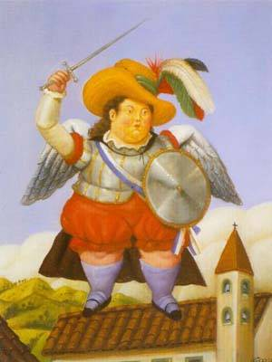 Archangel 1995 | Fernando Botero | oil painting