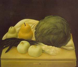 Still Life With Cabbage 1967 | Fernando Botero | oil painting